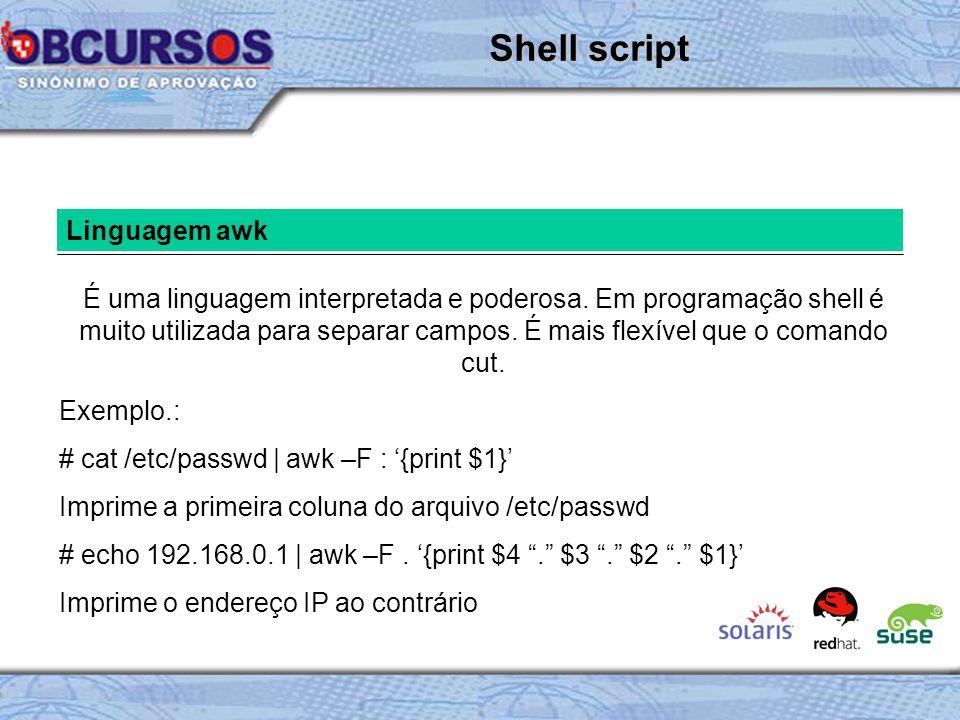 Shell script Linguagem awk