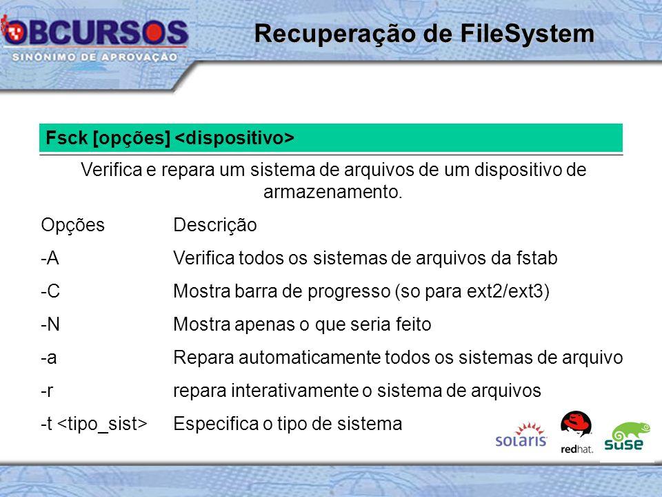 Recuperação de FileSystem