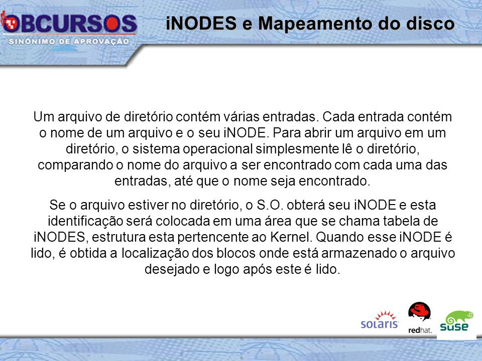 iNODES e Mapeamento do disco