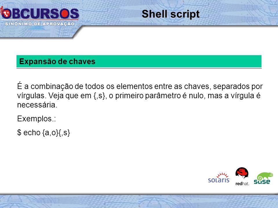 Shell script Expansão de chaves