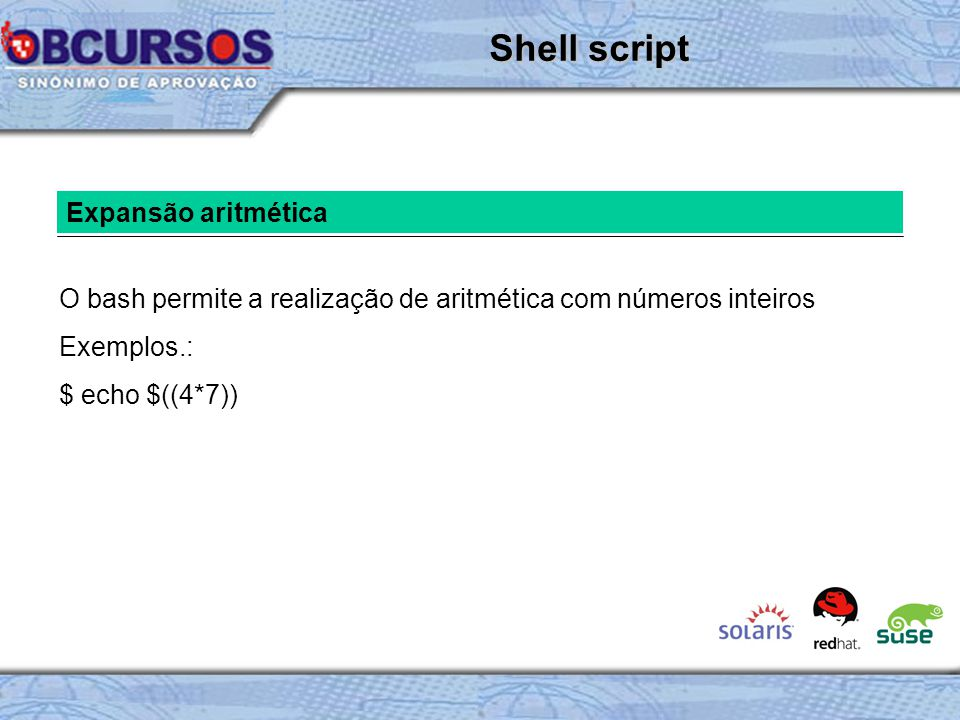 Shell script Expansão aritmética
