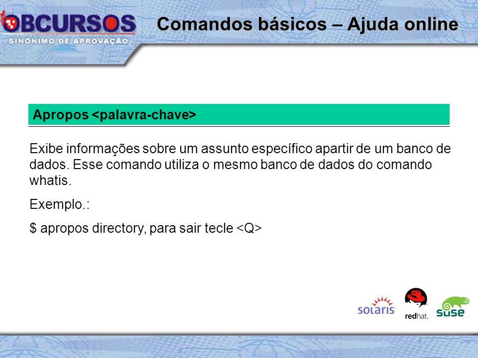 Comandos básicos – Ajuda online