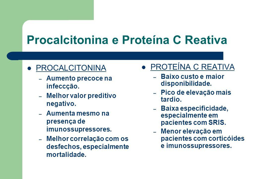 Procalcitonina e Proteína C Reativa