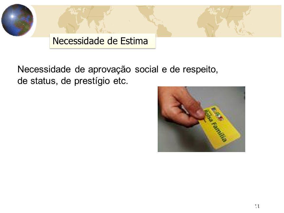 Necessidade de aprovação social e de respeito,