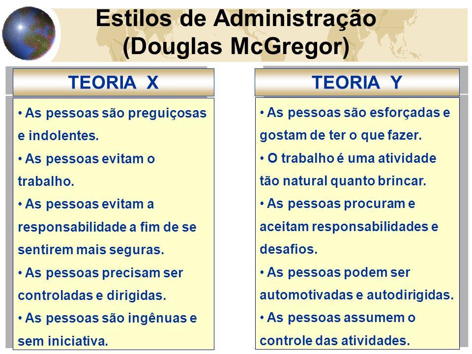 Estilos de Administração (Douglas McGregor)