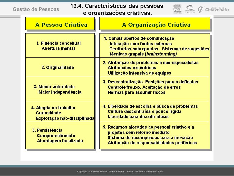 13.4. Características das pessoas