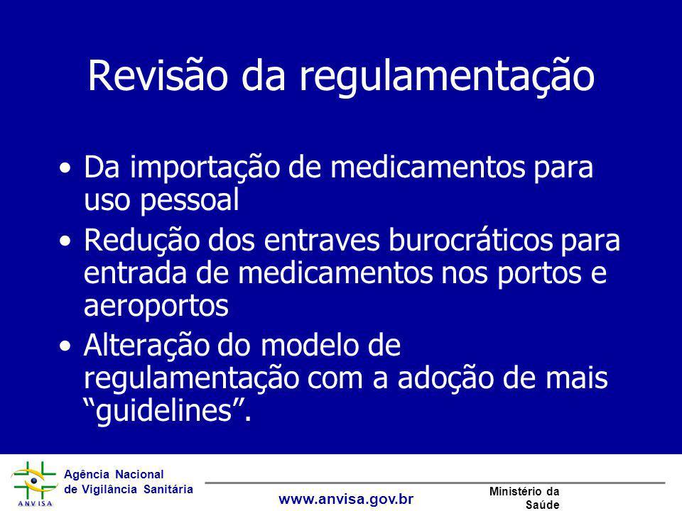 Revisão da regulamentação