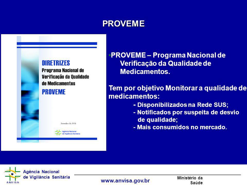 PROVEME PROVEME – Programa Nacional de Verificação da Qualidade de