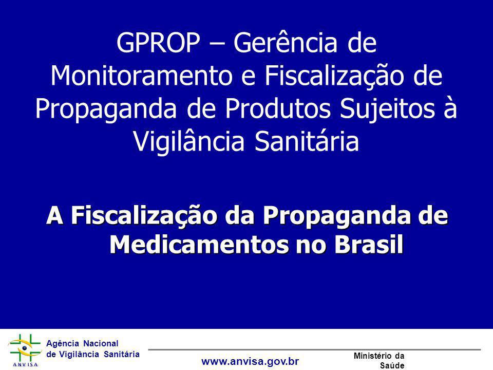 A Fiscalização da Propaganda de Medicamentos no Brasil