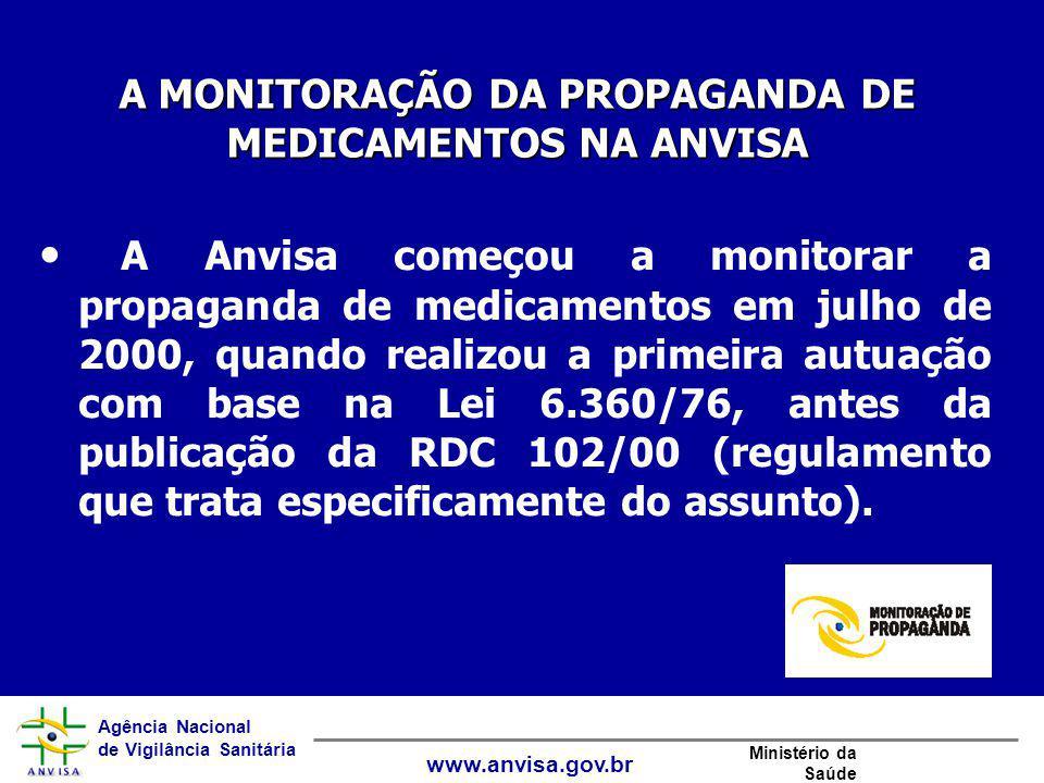 A MONITORAÇÃO DA PROPAGANDA DE MEDICAMENTOS NA ANVISA