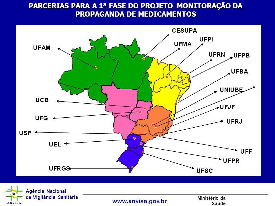 PARCERIAS PARA A 1ª FASE DO PROJETO MONITORAÇÃO DA PROPAGANDA DE MEDICAMENTOS
