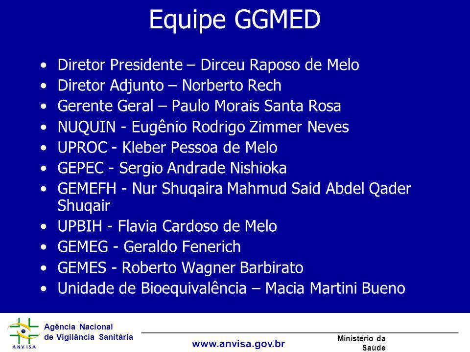 Equipe GGMED Diretor Presidente – Dirceu Raposo de Melo