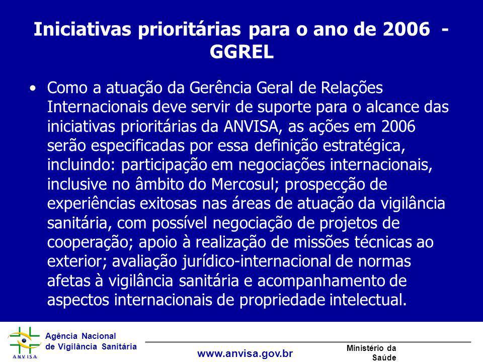 Iniciativas prioritárias para o ano de 2006 - GGREL