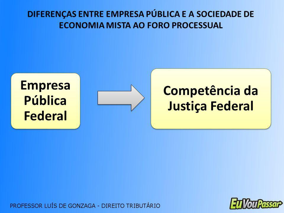 Competência da Justiça Federal Empresa Pública Federal