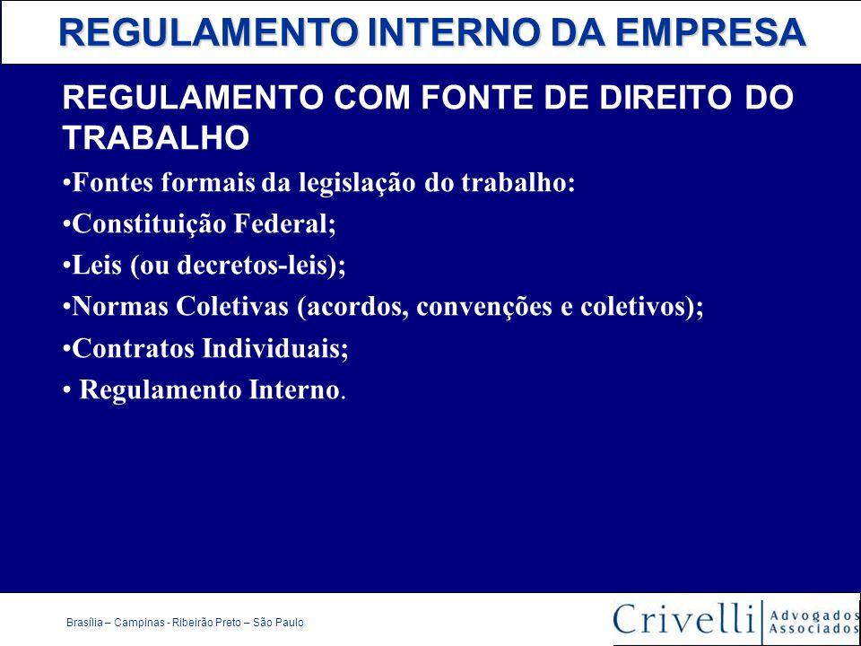 REGULAMENTO COM FONTE DE DIREITO DO TRABALHO