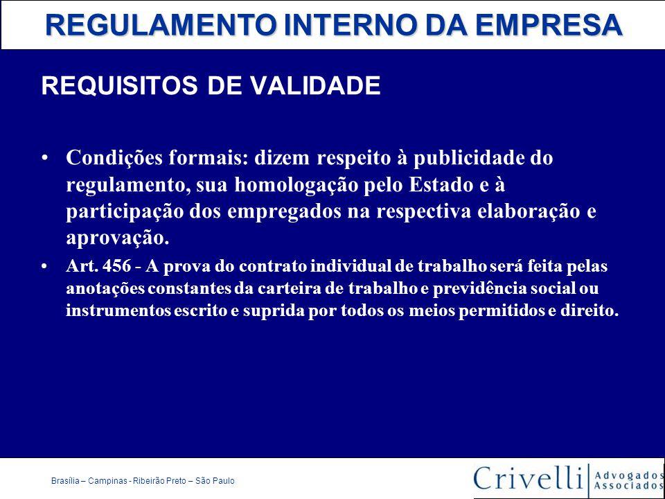 REQUISITOS DE VALIDADE