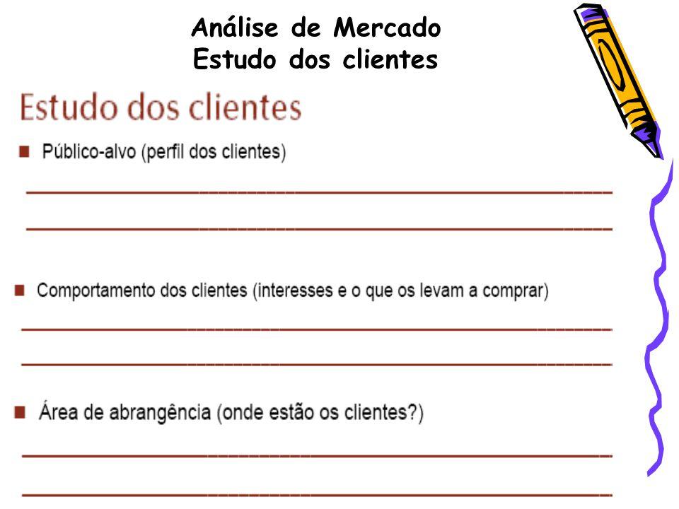 Análise de Mercado Estudo dos clientes