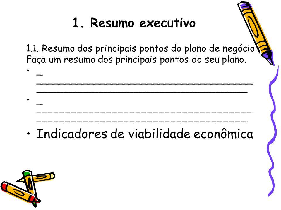 Indicadores de viabilidade econômica
