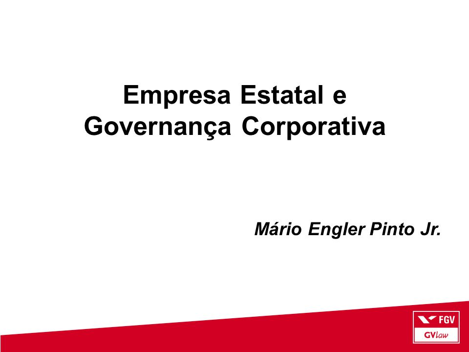 Empresa Estatal e Governança Corporativa