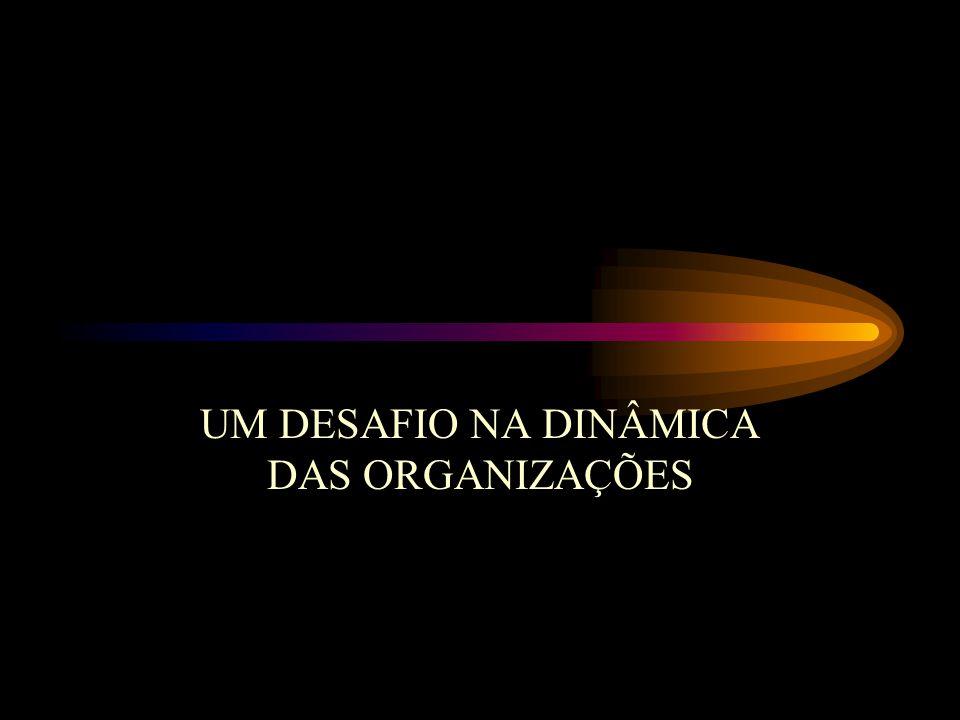 UM DESAFIO NA DINÂMICA DAS ORGANIZAÇÕES