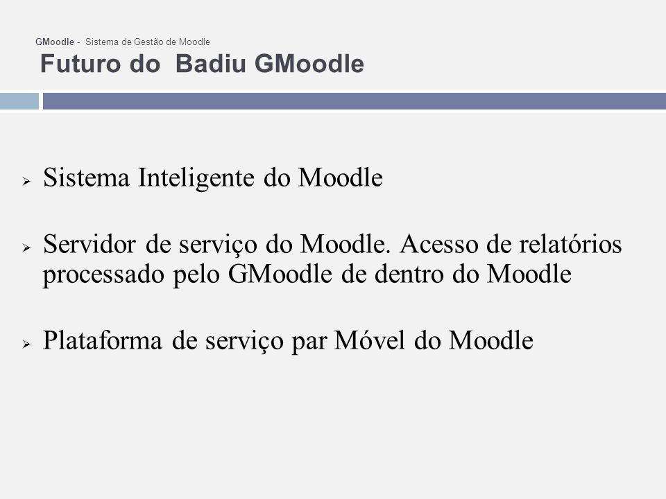 Sistema Inteligente do Moodle