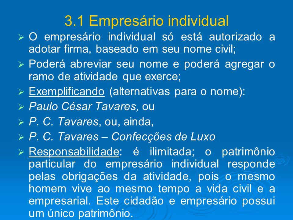 3.1 Empresário individual