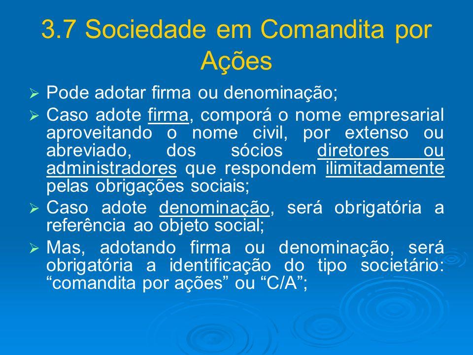 3.7 Sociedade em Comandita por Ações