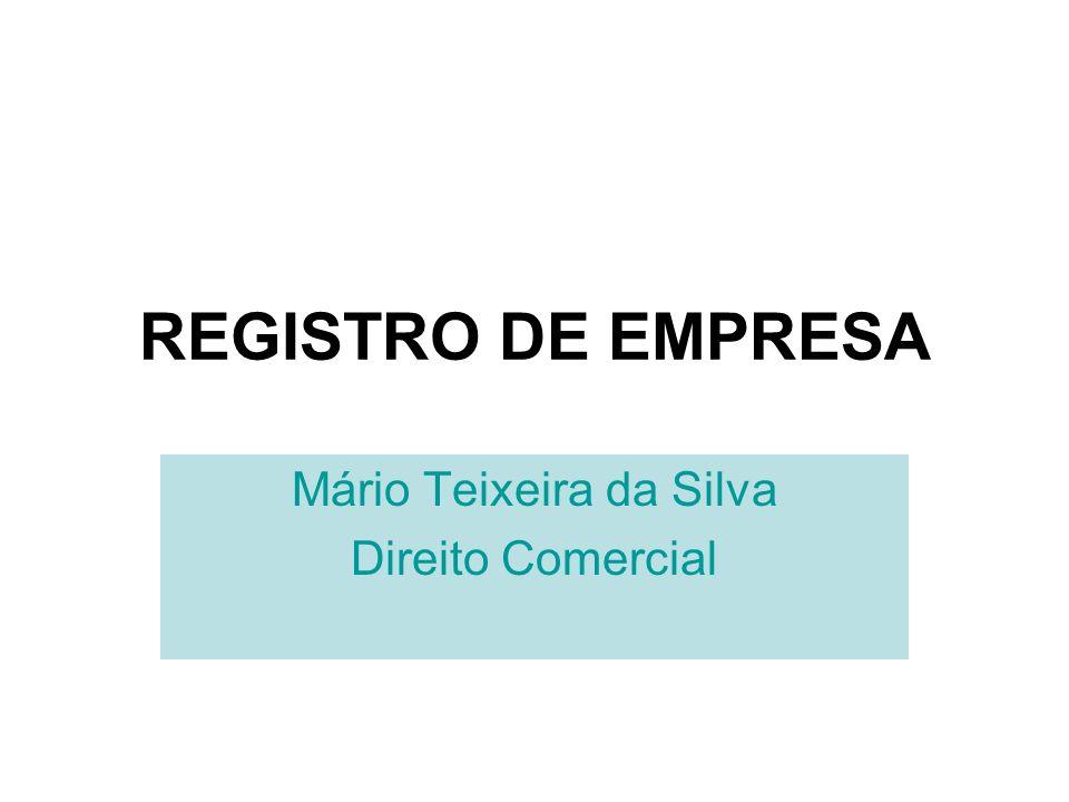 Mário Teixeira da Silva Direito Comercial