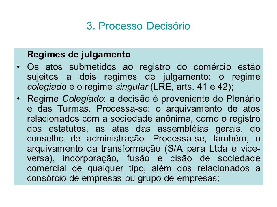 3. Processo Decisório Regimes de julgamento