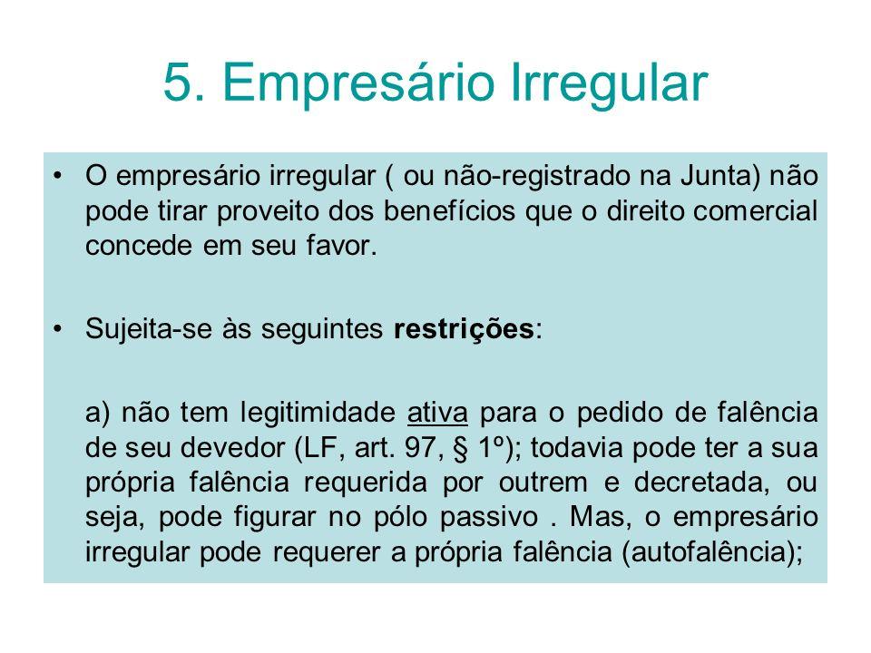 5. Empresário Irregular
