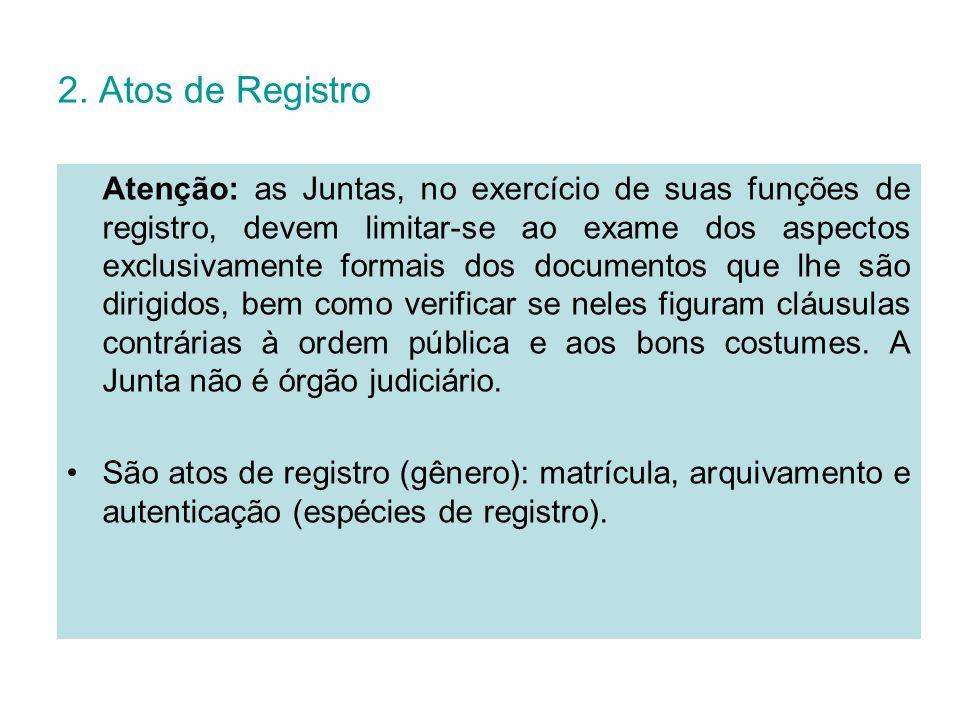 2. Atos de Registro