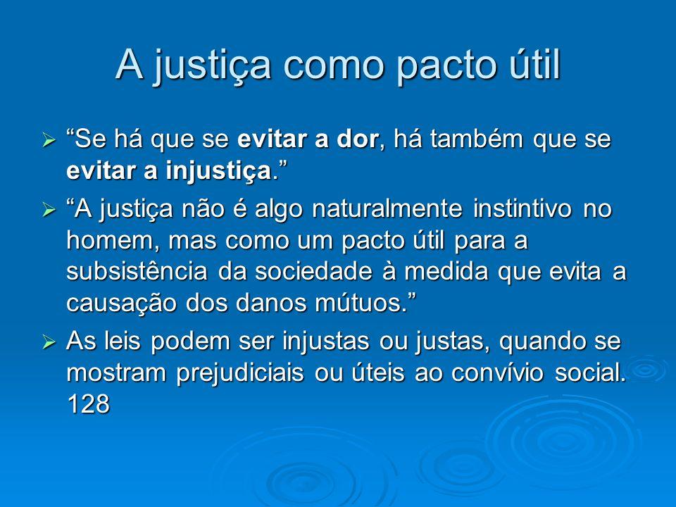 A justiça como pacto útil