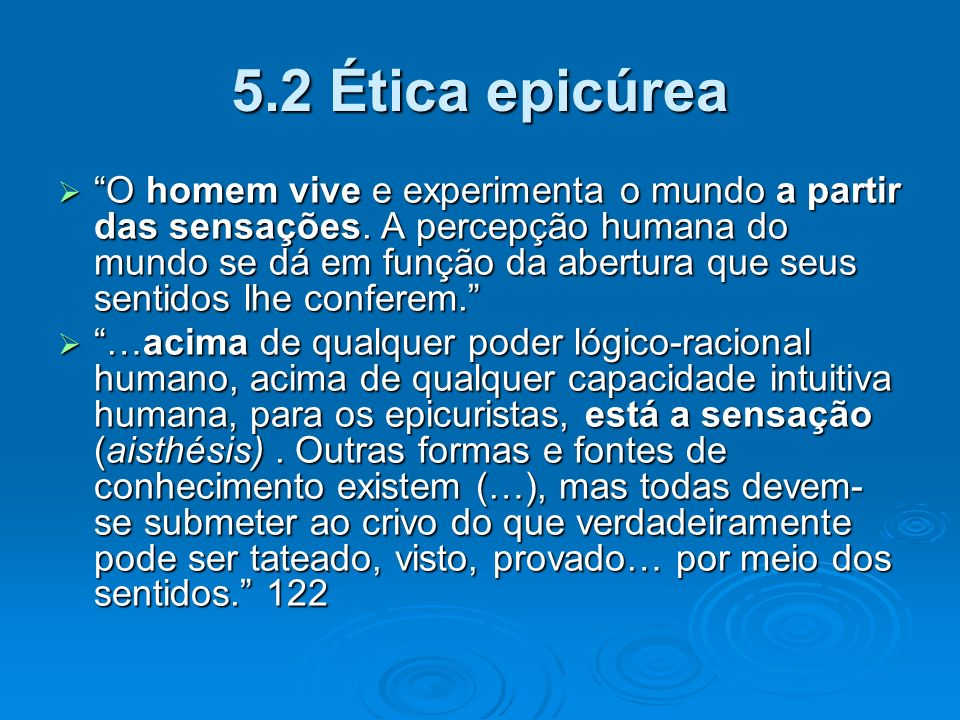 5.2 Ética epicúrea