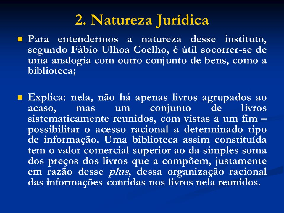 2. Natureza Jurídica