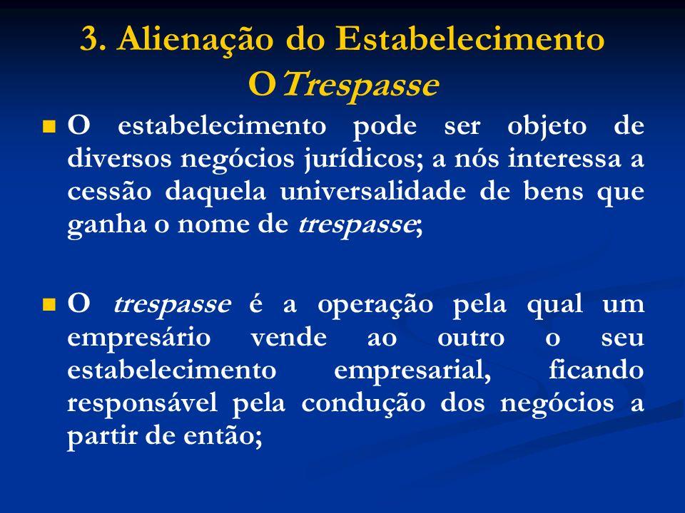 3. Alienação do Estabelecimento OTrespasse