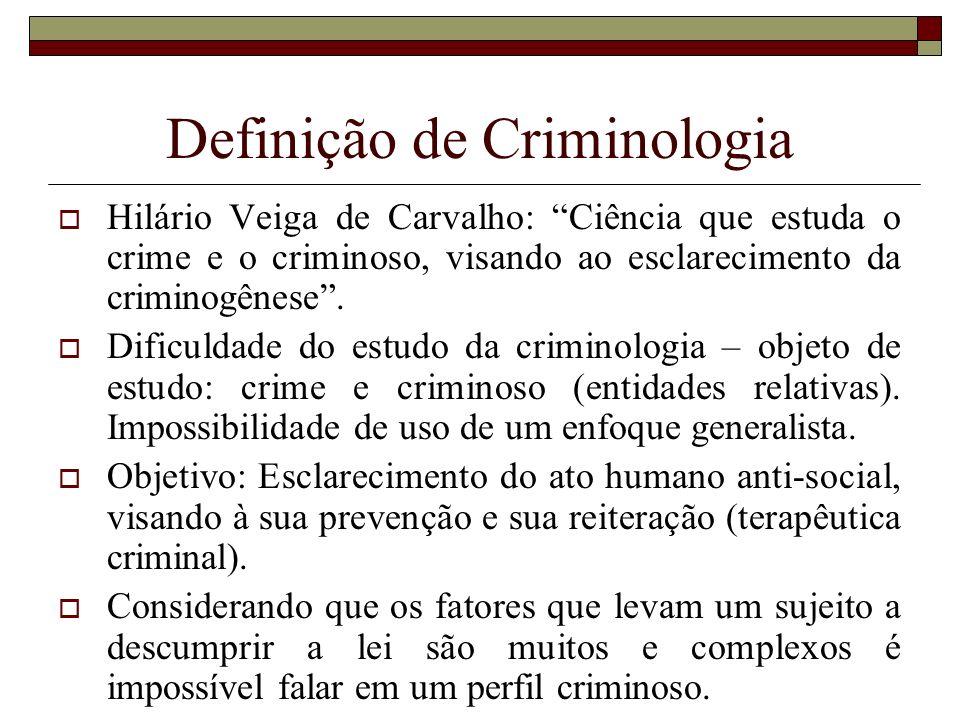 Definição de Criminologia