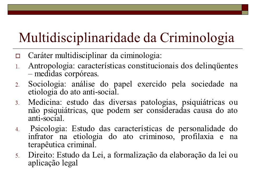 Multidisciplinaridade da Criminologia