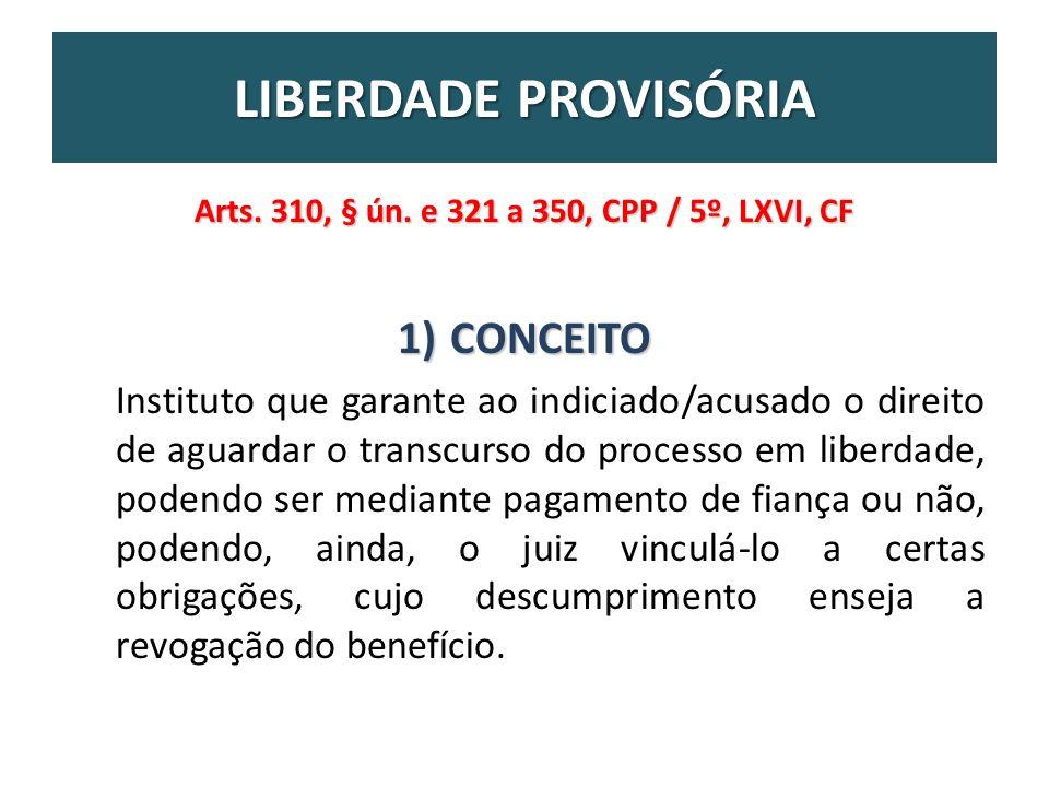 Arts. 310, § ún. e 321 a 350, CPP / 5º, LXVI, CF