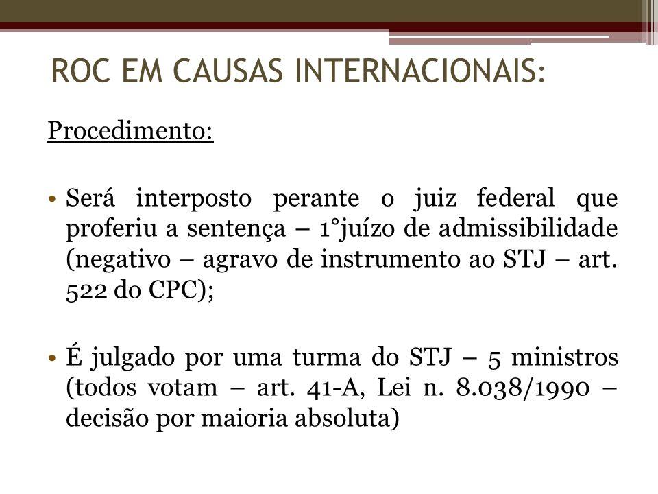 ROC EM CAUSAS INTERNACIONAIS: