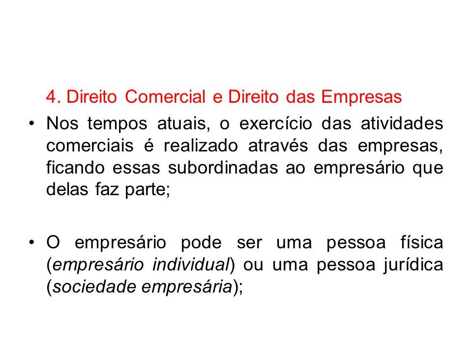 4. Direito Comercial e Direito das Empresas