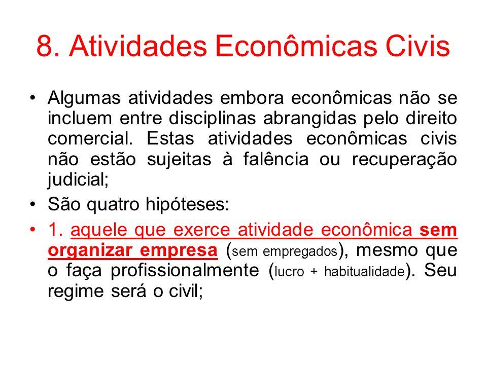 8. Atividades Econômicas Civis