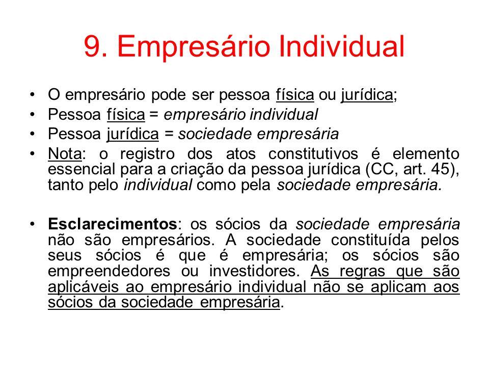 9. Empresário Individual