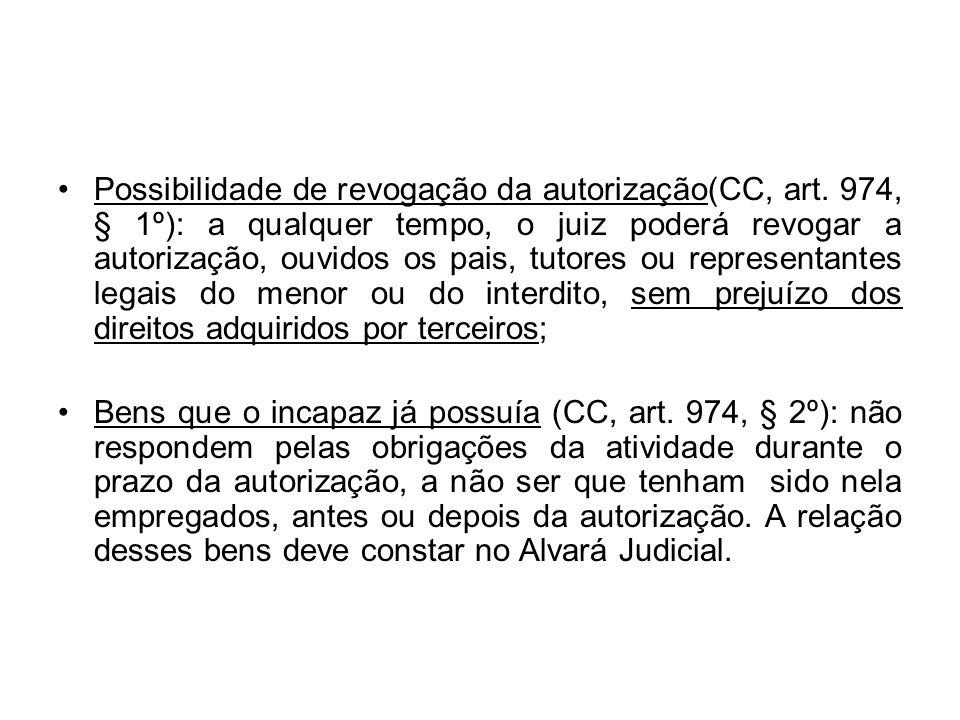 Possibilidade de revogação da autorização(CC, art