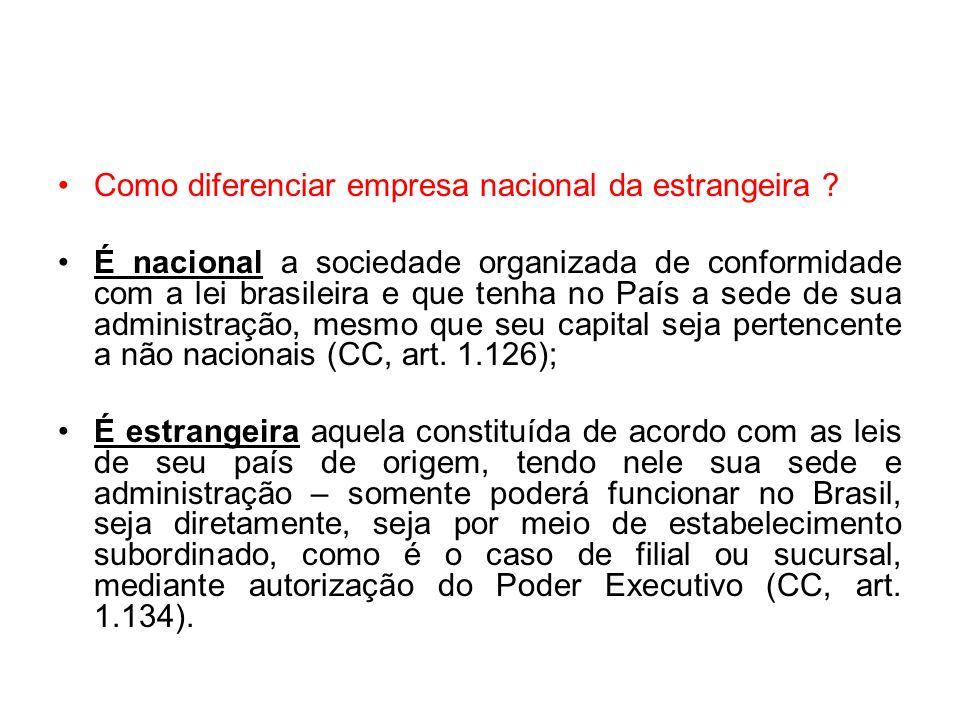 Como diferenciar empresa nacional da estrangeira