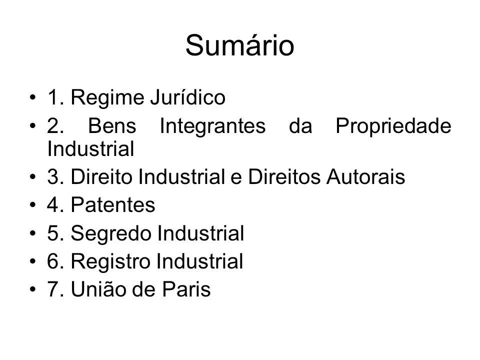 Sumário 1. Regime Jurídico