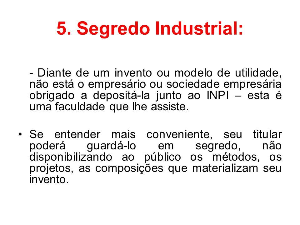 5. Segredo Industrial: