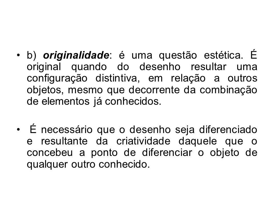 b) originalidade: é uma questão estética