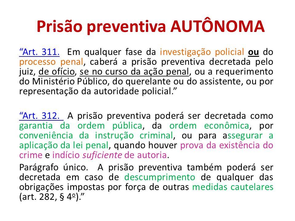 Prisão preventiva AUTÔNOMA