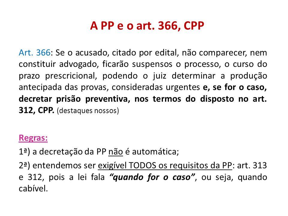 A PP e o art. 366, CPP