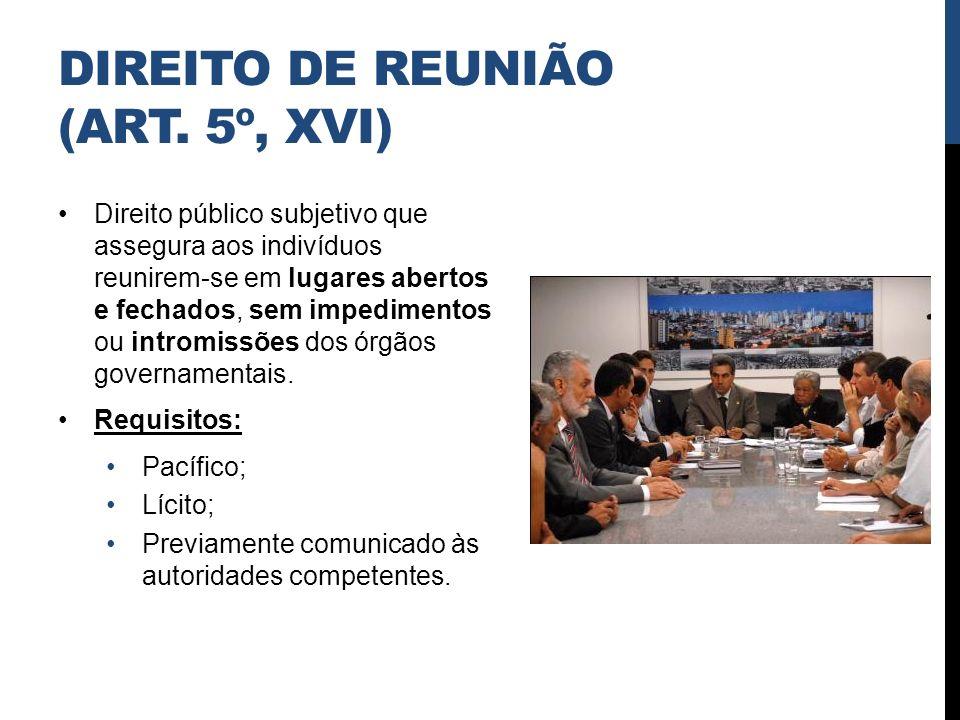 DIREITO DE REUNIÃO (ART. 5º, XVI)